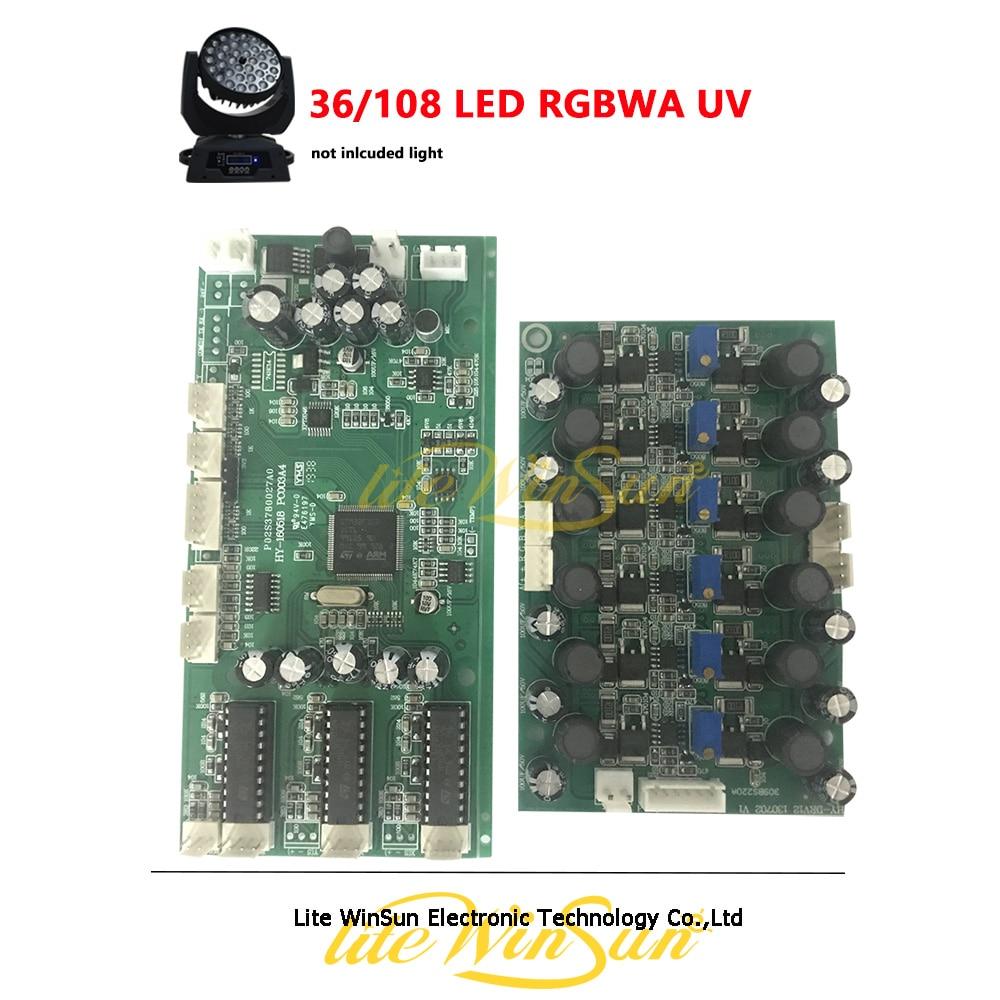 36*18W 108LED RGBWA UV LED Moving Head Light ZOOM Mother Board Screen Board LED Plate Driver LED Wash Moving Head