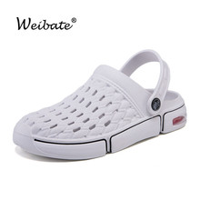 Summer Shoes Sandals Clogs Women Flat Woman Ladies Rubber Beach Eva WEIBATE Unisex-Hole