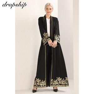 Image 5 - Dropship 2019 שמלת נשים שמלות זול מכירה מקסי ארוך בציר Vestidos Verano Robe Femme מוסלמי Boho רקמת Loose O צוואר