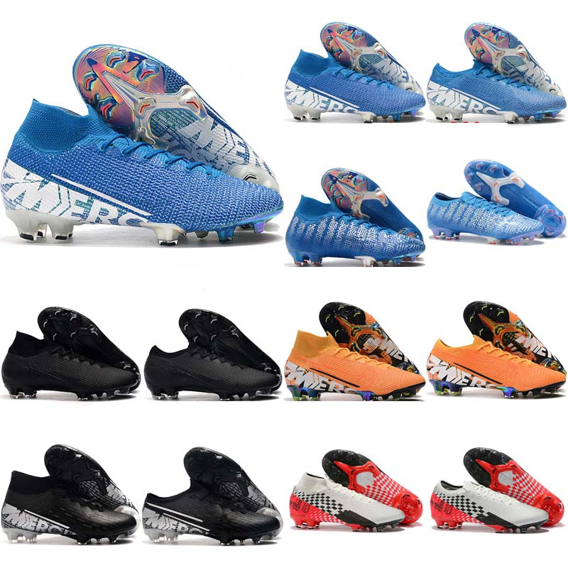 2020 Superfly VI <font><b>360</b></font> Elite FG KJ 13s CR7 Ronaldo Mens High Soccer <font><b>Shoes</b></font> 13 Low Football Boots Cleats Size 39-45 image