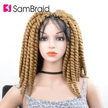 Wigs Braids Crochet Twist Synthetic-Hair Lace-Front Hair-Wig Passion-Bomb DIY Women's