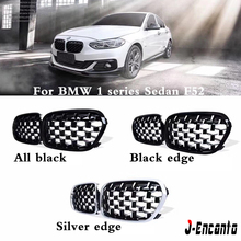 A pair Front Kidney Grille For BMW 1 Series sedan F52 2011-2019 Diamond Grille Meteor Style Front Bumper Grill Car Styling e90 e91 m3 style grill abs front bumper grille for bmw 3 series 2008 2011 4 door sedan 5 door wagon