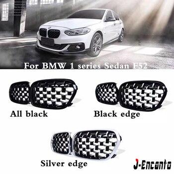 EEN paar Front Nieren Voor BMW 1 Serie sedan F52 2011-2019 Diamond Grille Meteor Stijl Voorbumper grill Auto Styling