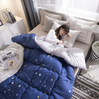 New Design Twin/queen/king Size Patchwork Duvet Home Thick Warm Quilts Luxury Printed Winter Blanket Bedding Comforter Quilted