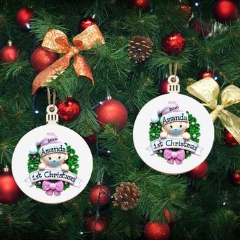 Kreatywne ozdoby świąteczne drewniane ozdoby słodkie dziecko drewniane ozdoby świąteczne ozdoby choinkowe tanie i dobre opinie CN (pochodzenie) Christmas Pendant Bez pudełka na prezent Support Wood 6 9X8 9cm
