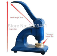 Heavy Desk Embossing Seal Press for Photo Card and Pvc Card /Common Metal Handle Press Stamp