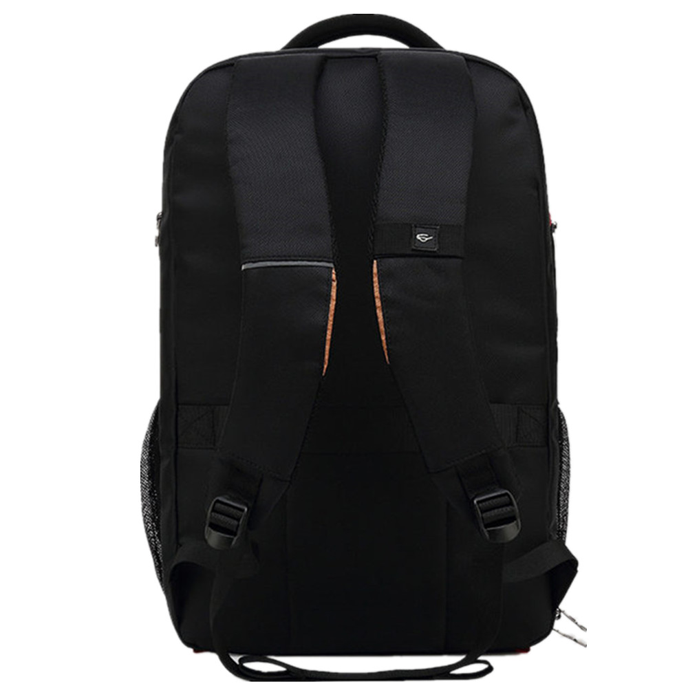 Image 4 - POSO Backpack 17.3 Inch USB Laptop Backpack Nylon Waterproof Backpack Anti Theft Travel Bag Multi function Stundet Backpack-in Backpacks from Luggage & Bags
