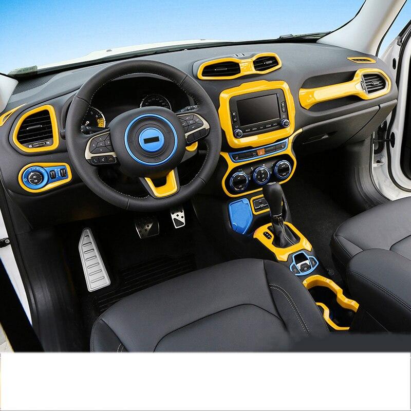 For Jeep Renegade 2016 2017 Interior Dashboard Navigation Frame Panel Cover Trim