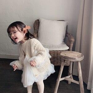 Image 4 - Dziewczęce sukienki w stylu zagranicznym 2020 nowa dziecięca księżniczka Pengpeng i dziecięce sukienki siateczkowe