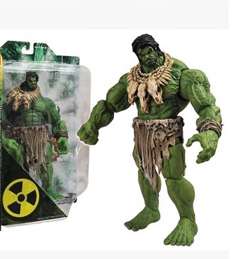 Free Shipping HOT SALE Hulk MAVEL Select AMERICAN HERO The Avengers The Barbarians Type NEW Superhero  Action Figures Toy HK002