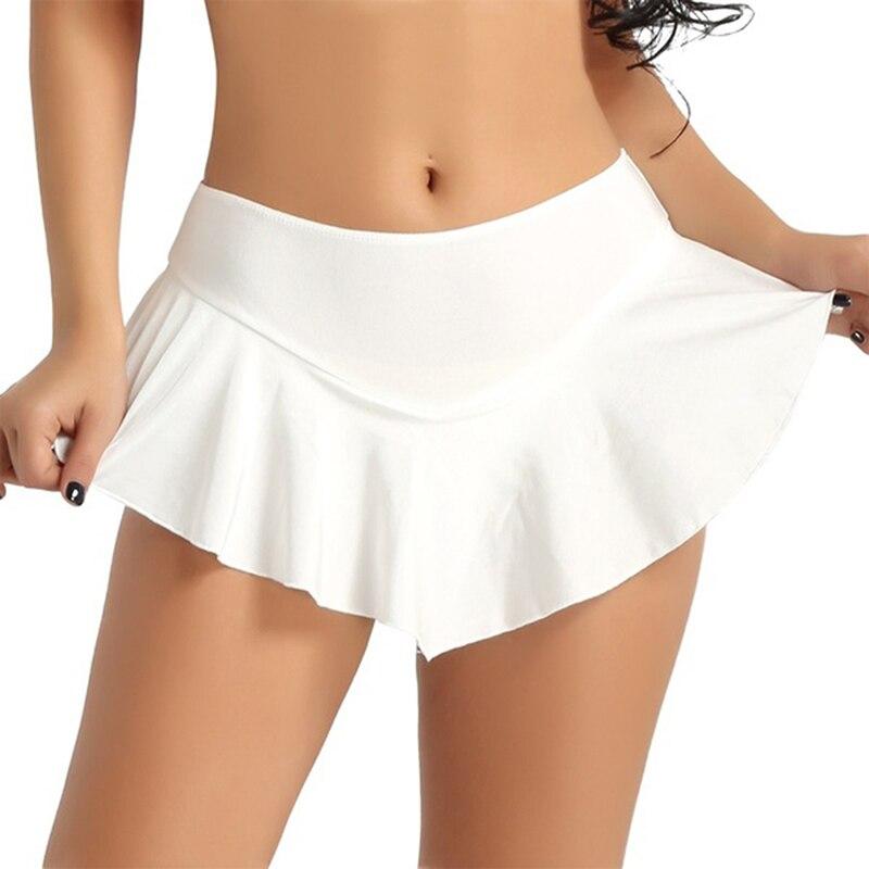 Sexy Short Mini Skirt Women Micro Mini Skirt Dance Clubwear Metallic Pleated Skirt 3 Colors