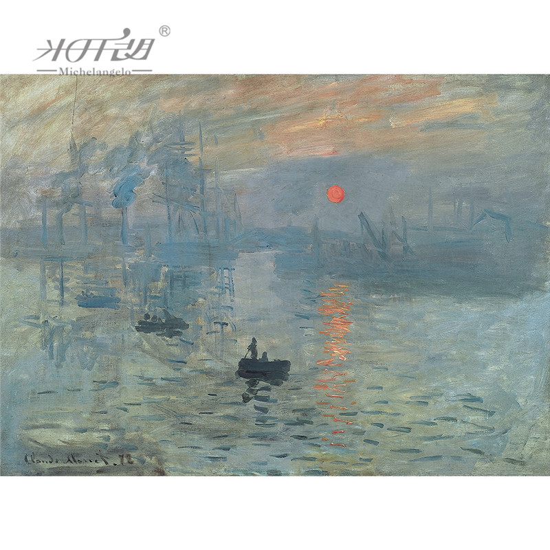 Michelangelo Wooden <font><b>Jigsaw</b></font> <font><b>Puzzle</b></font> 500 1000 <font><b>1500</b></font> 2000 <font><b>Pieces</b></font> Claude Monet Impression Soleil Levant Painting Educational Toy Decor image