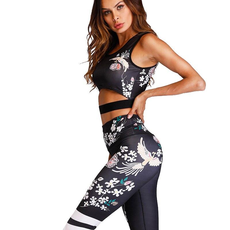 Acefancy Yoga Set Fitness Print Leggings Push Up Crop Rop  Bra Clothing Gym Woman ZC1792 Fitness Sets Sport Wear Outfit  Women 4
