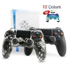 Için PS4 denetleyicisi Bluetooth Gamepad mando için ps4 dualshock 4 kablolu/kablosuz oyun kolu Playstation 4 için manette ps4 konsolu