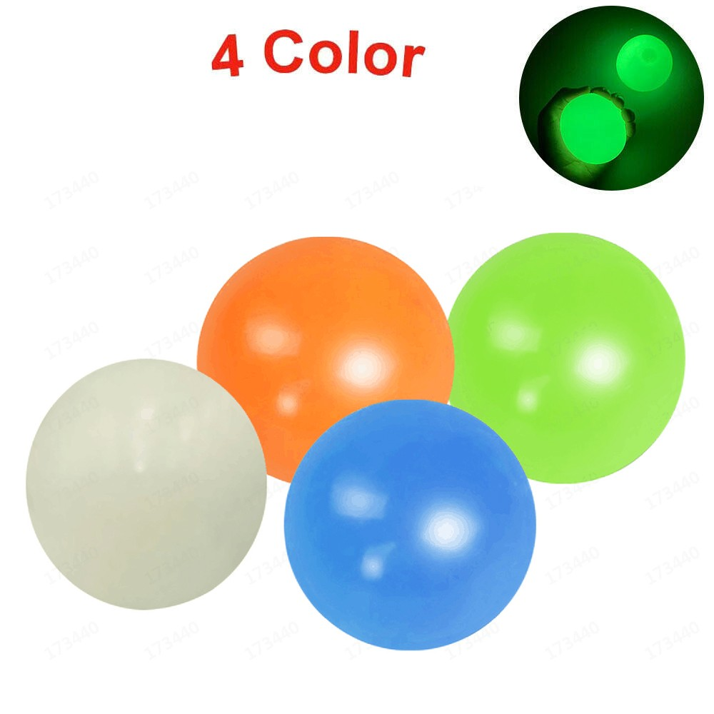 Fidget-Toy Wall-Balls Stress Relief Sticky Squishy 1-4pcs-Squeeze-Toys Kids Gift Luminous img2