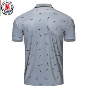 Image 2 - Fredd Marshall 2019 New Feather Printed Polo Shirt Men Casual Short Sleeve Brands Fashion Polo Shirt Male Sports Tops Tees 050