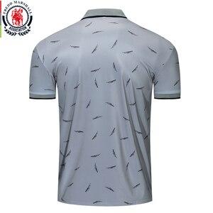 Image 2 - Fredd Marshall 2019 nowy nadruk piór koszulka Polo mężczyźni na co dzień z krótkim rękawem marki modna koszulka Polo męskie sportowe topy Tees 050