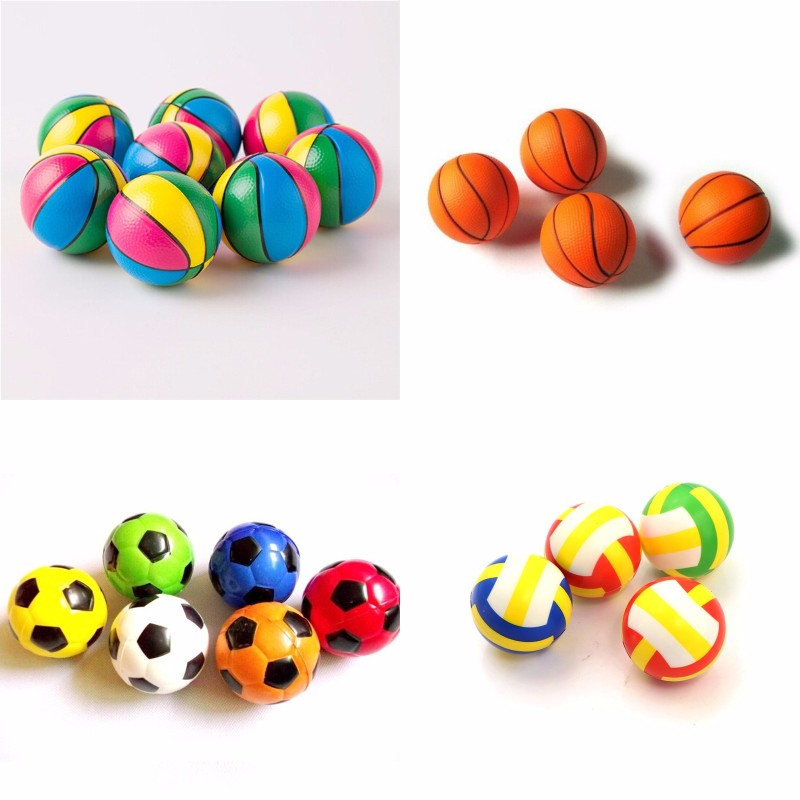 6.3CM Colorful Squeeze Soft Foam Rubber Ball Squeezing Ball Basketball Orange Hand Wrist Exercise Stress Relief Kid Toy