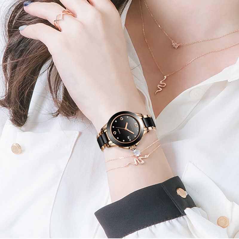 SUNKTA kobiety zegarki luksusowe marki bransoletka do zegarka wodoodporny diament panie zegarki dla kobiet zegar kwarcowy Relogio Feminino