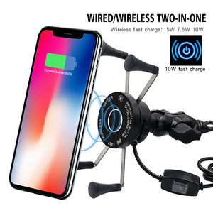 Image 3 - Wireless Motorcycle Bike Mobile Phone Holder With USB Charger Waterproof QC3.0 Fast Charging Bracket Support Moto Phone Holder