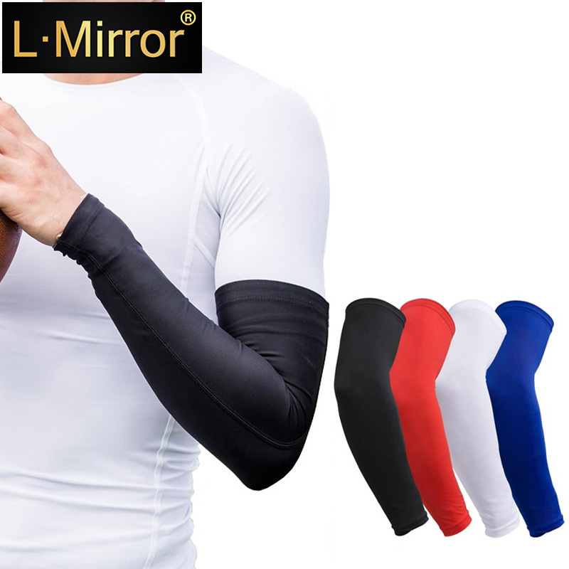 L.Mirror 1Pcs Youth Arm Sleeve - Compression Elbow Brace Support For Girls / Boys / Kids - Sports Sleeves For Basketball