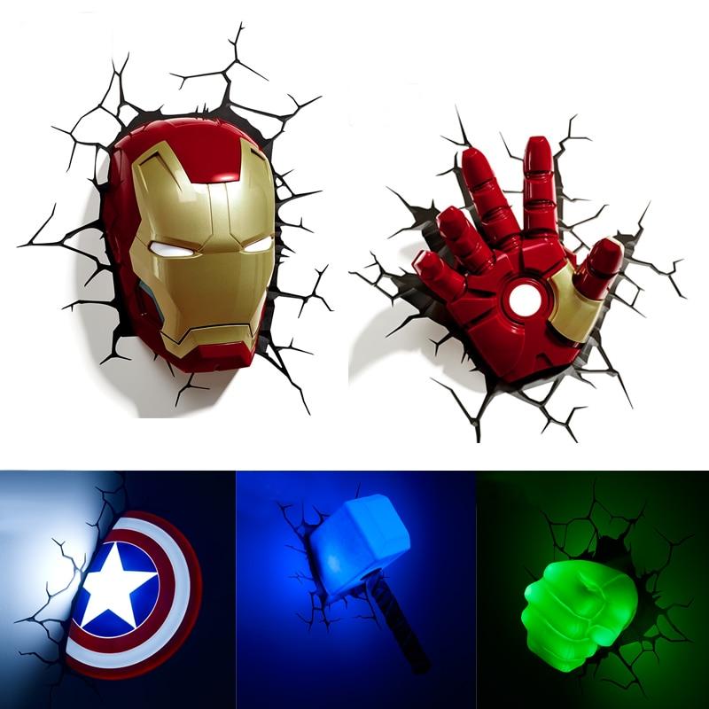 Acecorner Iron Man Hulk LED 3D Creative LED Wall L