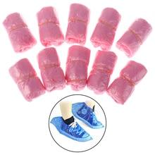 Overshoes Shoe-Care-Kits Rain Plastic Disposable Waterproof 100pcs/Lot