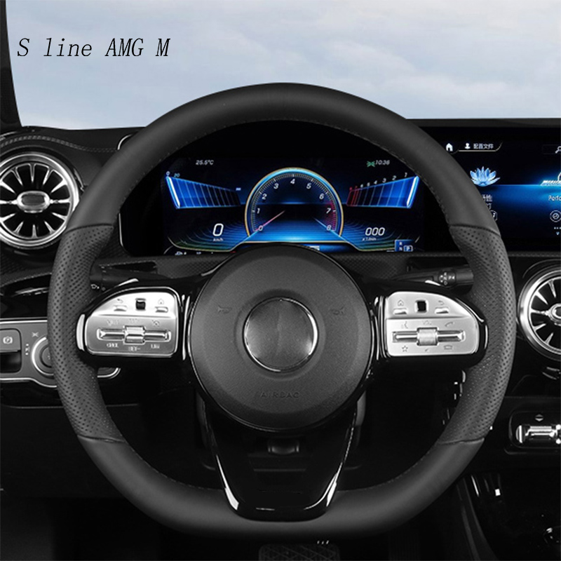 Car Styling For Mercedes Benz A B C E <font><b>G</b></font> Class CLA CLS GLC GLE GLS W177 W247 W205 W213 C257 X253 Steering Wheel Buttons <font><b>Stickers</b></font> image