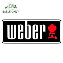 EARLFAMILY 13cm x 5.2cm for Weber Car Stickers and Decals JDM Accessories Personality Creative Scratch-proof Waterproof Decor