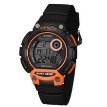 Тенденции Товары SHHORS Мужчины LED Цифровые Часы Мода Спорт Мужчины Часы Большой Циферблат Электронные Наручные часы Водонепроницаемость Часы AAA