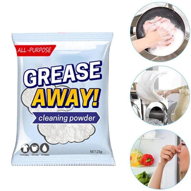 25g Grease Away Powder Cleaner Powerful Cleaners Home Kitchern Sink Detergent Sodium Bicarbonate Grease Away Powder Cleaner
