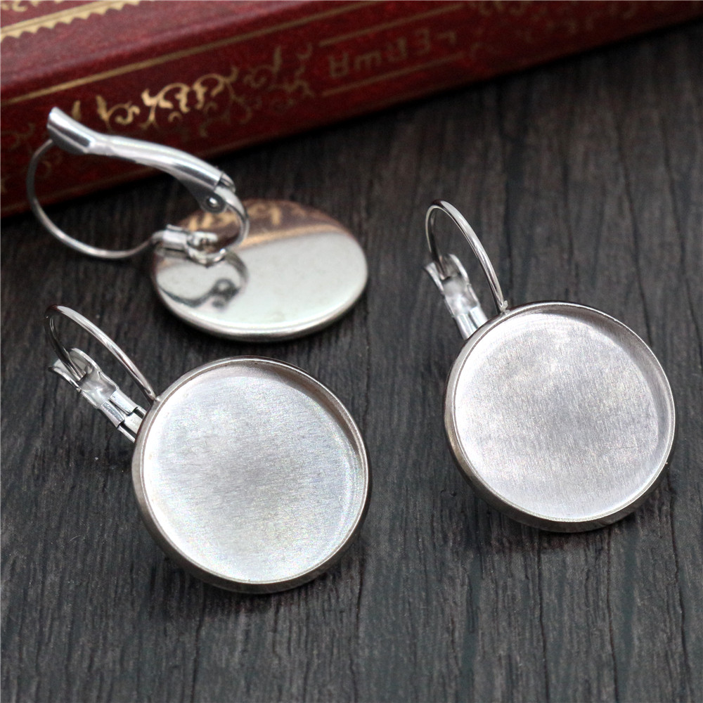 20 LEVER BACK EARRINGS SILVER PLATED 16mm