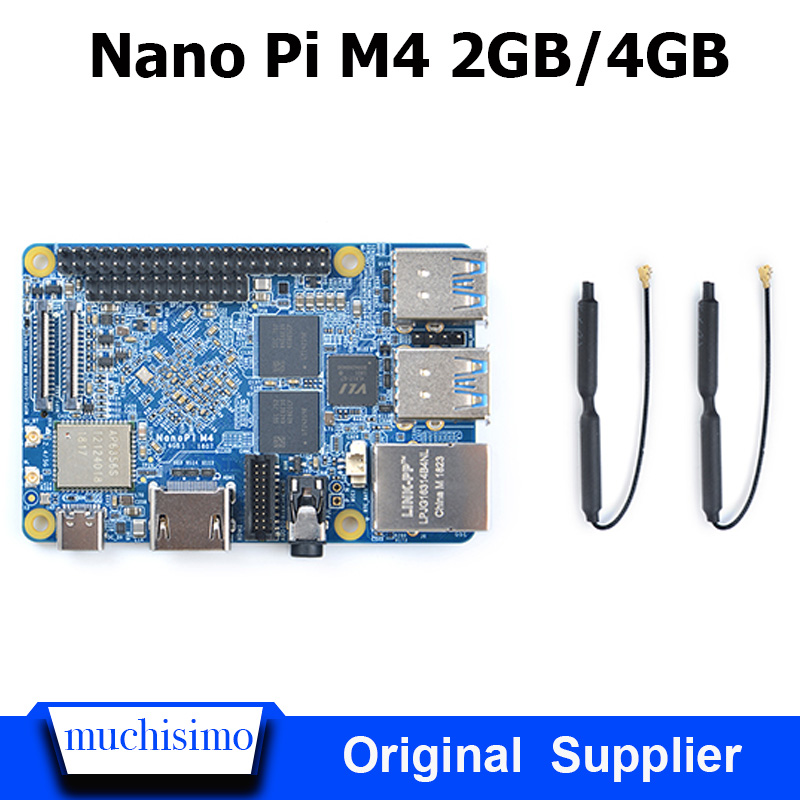 FriendlyARM NanoPi M4 2GB/4GB DDR3 Rockchip RK3399 SoC 2.4G & 5G dual-band WiFi,Support Android 8.1 Ubuntu, AI and deep learning