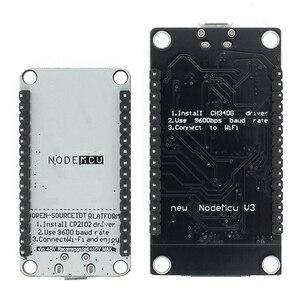Image 2 - 50 шт. беспроводной модуль CH340/CP2102 NodeMcu V3 V2 Lua WIFI Интернет вещей макетная плата на основе ESP8266 с антенной pcb
