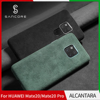 SanCore for HUAWEI MATE20/PRO Phone Case Leather Full protection ALCANTARA Business Leather Luxury Phone Shell Suede Back Cover