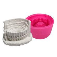 Innovative 3D Toy Coliseum Silicone Mold Flower Pot Concrete Cement
