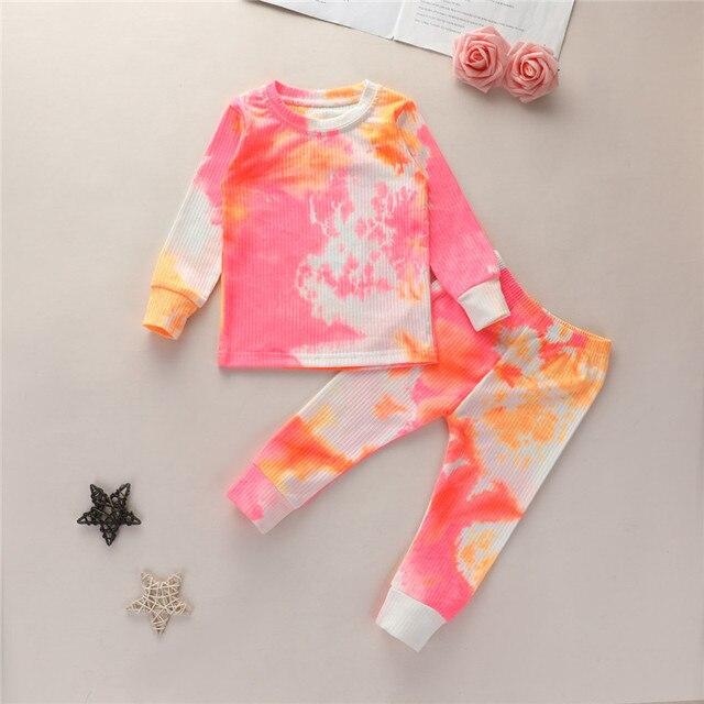 Tie Die Matching Pajama Set 5