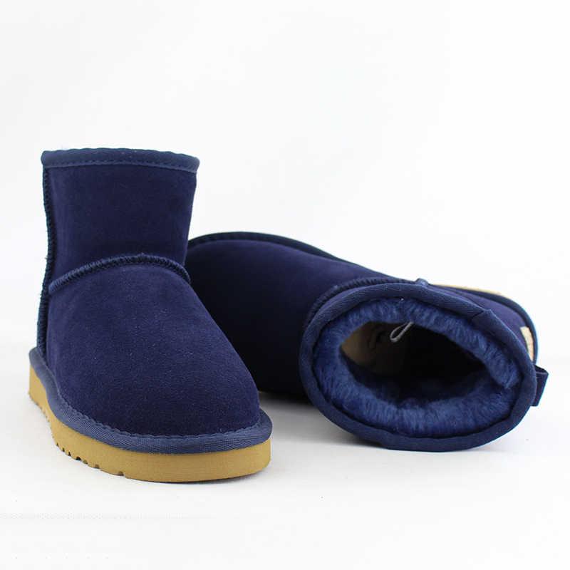 Yeni En Kaliteli Avustralya Klasik Kadın Kar Botları 100% Hakiki Inek Derisi Deri yarım çizmeler Sıcak Kış Çizmeler Kadın Ayakkabı