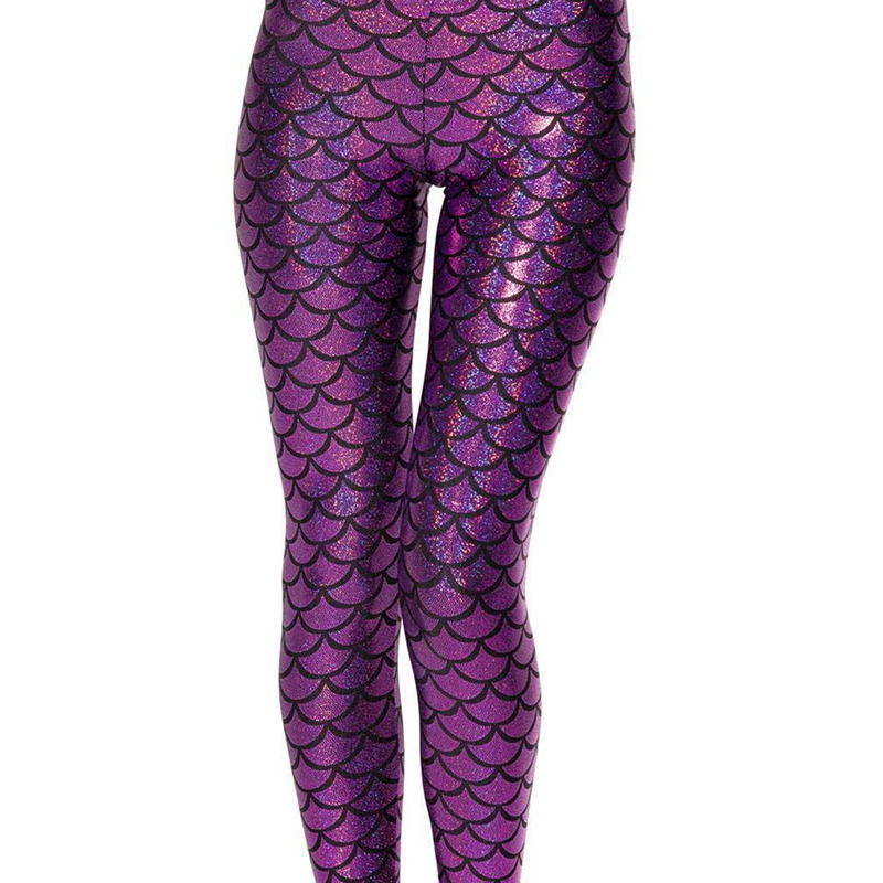VIIANLES Women 2019 Top Sale Fish Scale Leggings Black Milk Digital Print Legging Sexy Leggins Women Mermaid Plus Size S-XXXL