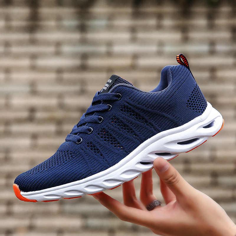 Unisex spor ayakkabı erkekler nefes rahat kaymaz kadın erkek ayakkabısı erkek Lace up aşınmaya dayanıklı severler ayakkabı masculino çift sneakers 8