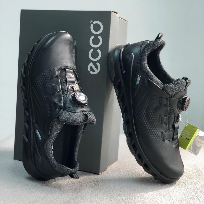 Genuine Leather Golf Shoes Men Big Size 39 46 Jogging Walking Footwear Golfers High Quality Anti Slip Spikless Golf Sneakers