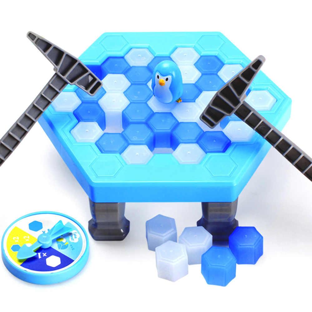 Спасти пингвина ловушка игрушка изделия для крошения льда родителей и детей; интерактивная игрушка ледокол игрушки стол настольная игра для всей семьи Рождественский подарок
