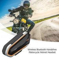 TWISTER.CK QTBE6 Bluetooth Motorcycle Helmet Intercom Headset Interphone FM Walkie Portable Noise proof Earphone
