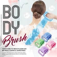 soft Silicone bath towel rubbing back exfoliating dead skin body massage brush bath brush rubbing towel shower cleaner 80cm