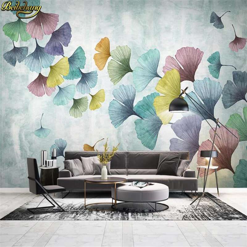 Beibehang Custom Ginkgo Leaves Photo Wallpaper 3D Art Mural Wall Paper Living Room TV Background Photo Wall Papers Home Decor