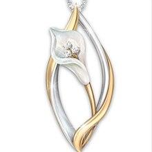 Женские лист формы ожерелье с изображением тюльпанов; Модная