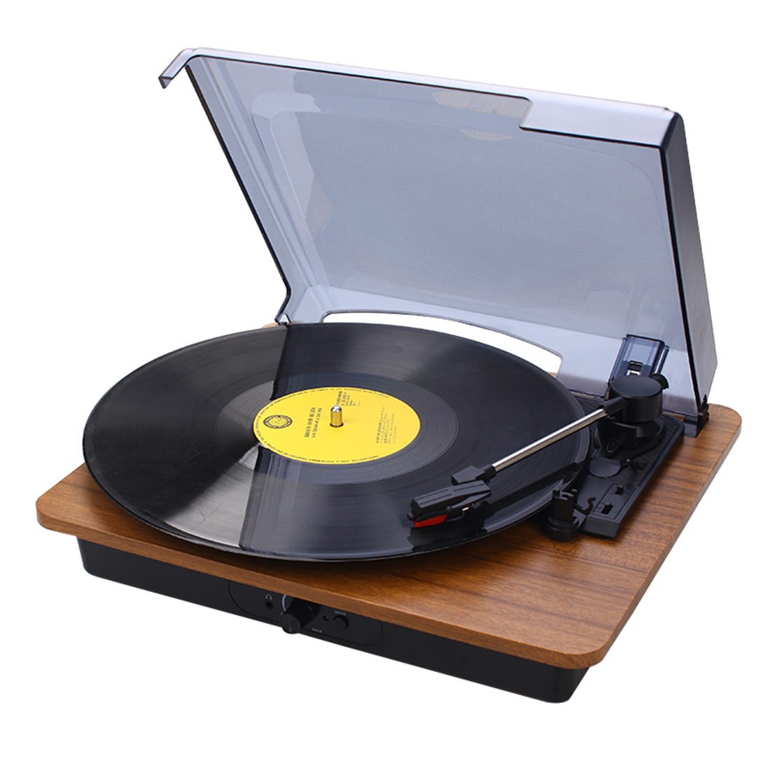 Mini Bluetooth Speaker Vinyl Record Player Protable Vintage Phonograph Turntables Drop Shipping - Redwood Color image