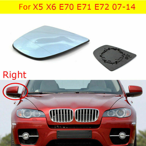 Rearview Mirror Wing Side Mirror Glass Heated Style For-BMW X5 X6 E70 E71 E72 2007-2014 Right RH 51167174982
