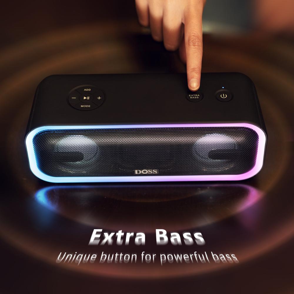 DOSS Altoparlante Senza Fili di Bluetooth Cassa di Risonanza Pro + TWS 24W Impressionante Suono con Bassi Profondi Colori Misti Luci Vero Stereo suono - 3