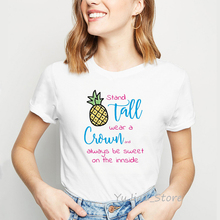 цена на vogue t shirt camiseta mujer watercolor pineapple fruit print t-shirt graphic tees women harajuku shirt kawaii clothes tshirt
